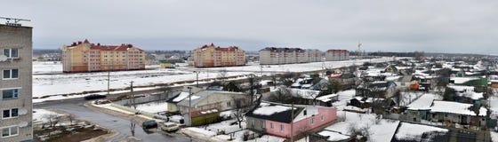 Belarus. Panoramische Ansicht der Vileyka Stadt Lizenzfreies Stockfoto