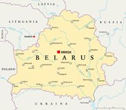Belarus Political Map Stock Images