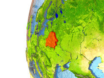 Belarus in red Stock Photo