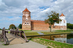Belarus. Road through the bridge to the Mir Castle Royalty Free Stock Photo