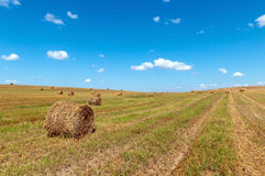 Belarus rolling bobbins from the hill landscape Royalty Free Stock Image