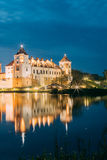 Belarus. Scenic View Of Mir Castle Complex In Bright Evening Ill Royalty Free Stock Images