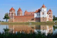 belarus slott komplicerade Europa mir royaltyfri fotografi