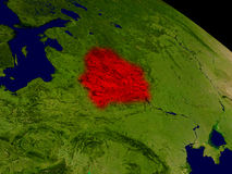 Belarus from space Stock Photo