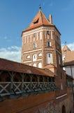 Belarus. Tower of Mir Castle. Belarus, Grodno region. Tower of Mir Castle Royalty Free Stock Images