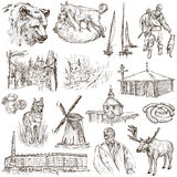 Belarus: Travel around the World. An hand drawn illustration on Royalty Free Stock Photos