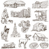 Belarus: Travel around the World. An hand drawn illustration on Royalty Free Stock Photography