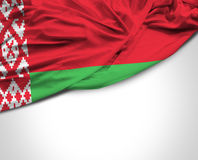Belarus waving flag on white background.  Royalty Free Stock Photo