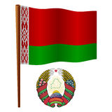 Belarus wavy flag Royalty Free Stock Image