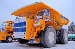 BelAZ, Dump truck, the largest in the world, Minsk region, royalty free stock images