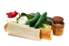 belarusian салат ингридиентов тарелки Стоковое Изображение RF