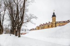 Nesvizh Castle. winter royalty free stock images