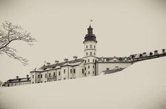 Nesvizh Castle. winter stock image