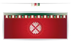 Belarusian card with the national pattern and ribbons Stock Photography