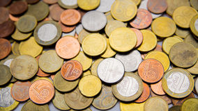 Belarusian coins are on the table Royalty Free Stock Photo
