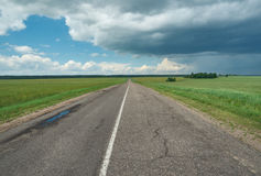 Belarusian Country road Royalty Free Stock Photo
