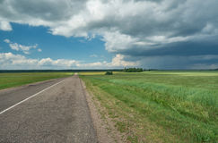 Belarusian Country road Royalty Free Stock Photography