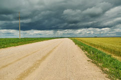 Belarusian Country road Royalty Free Stock Photos