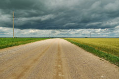 Belarusian Country road Stock Images