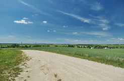 Belarusian Country road Stock Photography
