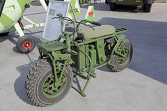 Belarusian electric all-wheel-drive drive off-road motorcycle Stock Images