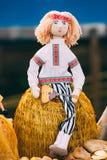 Belarusian Folk Doll. National Folk Dolls Are Popular Souvenirs Royalty Free Stock Photos