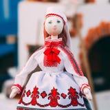 Belarusian Folk Doll. National Folk Dolls Are Popular Souvenirs Royalty Free Stock Photo