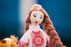 Belarusian Folk Doll. National Folk Dolls Are Popular Souvenirs Stock Photo