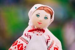 Belarusian Folk Doll. National Folk Dolls Are Popular Souvenirs Royalty Free Stock Photography