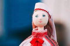 Belarusian Folk Doll. National Folk Dolls Are Popular Souvenirs Stock Image
