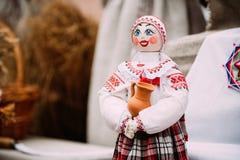 Belarusian Folk Doll. National Traditional Folk Dolls Are Popular Stock Images