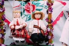 Belarusian Folk Doll. National Traditional Folk Dolls Are Popular Royalty Free Stock Photography