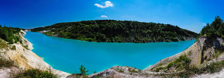 Belarusian Maldives. River panorama with blue water in the afternoon Stock Images