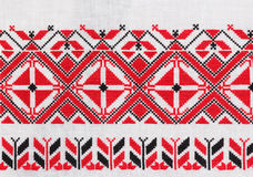 Belarusian national ornament. Belarusian national embroidery, towel Stock Images