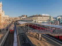 Belarusian railway station in Moscow. Royalty Free Stock Photo