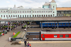 Belarusian railway station in Moscow, Russia Stock Images
