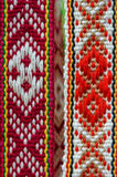 Belarusian sashes with a classic geometric pattern Royalty Free Stock Photography