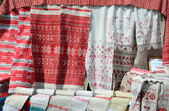 Belarusian towels Royalty Free Stock Image