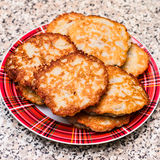 Belarusian traditional cuisine. Potato meat pies Royalty Free Stock Photos