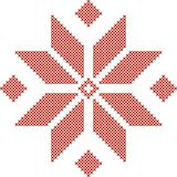 Belarusian traditional embroidered pattern royalty free stock image