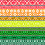 Belarusian traditional patterns, ornaments. Set 5 Stock Photography