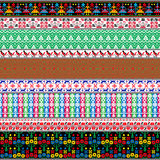 Belarusian traditional patterns, ornaments. Set 7 Stock Photo