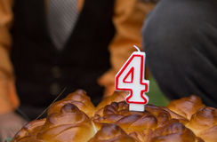 Belarusian urodzinowy kulebiak w obywatela stylu zdjęcia stock