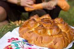 Belarusian urodzinowy kulebiak w obywatela stylu obrazy royalty free