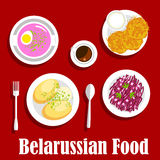 Belarusian vegetarian national dishes flat icon Royalty Free Stock Photography