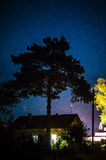 Belarusian village at night. Stock Image