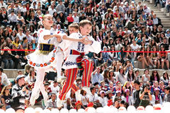 Belarussian folk dance Stock Images