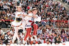 Belarussian folk dance Stock Images