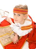Belarussian girl in national dress Stock Photo