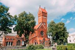 Belarussian Roman Catholic Church Of Saints Simon arkivfoton